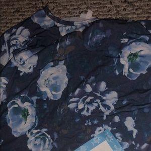 LuLaRoe XS vintage Irma blue peonies